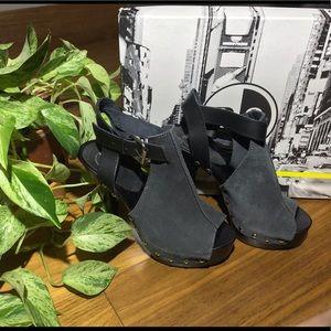 B2 Studded Suede Heels